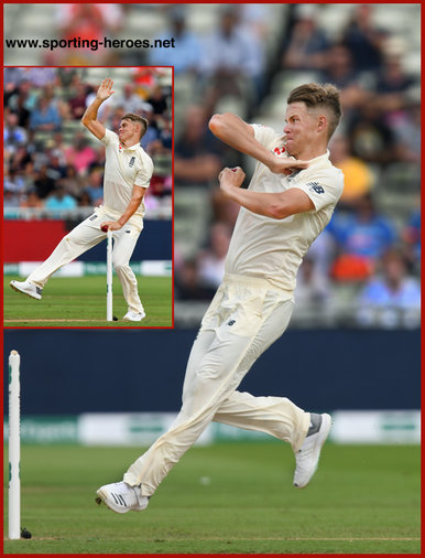Sam CURRAN - England - 2018 Five Test series against India.
