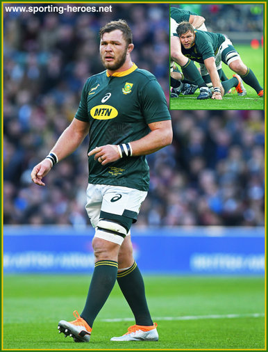 Duane VERMEULEN - South Africa - International Rugby Caps.