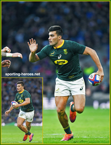 Damian DE ALLENDE - South Africa - International Rugby Union Caps.