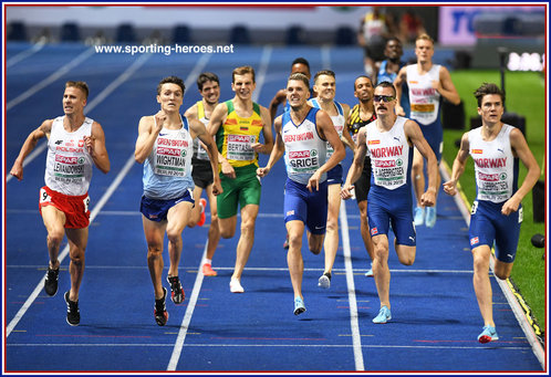 Jake WIGHTMAN - Great Britain & N.I. - Bronze medal at 2018 European 1500m Championships.