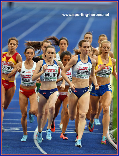 Laura WEIGHTMAN - Great Britain & N.I. - Bronze medal 2018 European 1500m Championships.