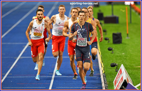 Pierre-Ambrois BOSSE - France - 3rd. in 800m at 2018 European Championships.