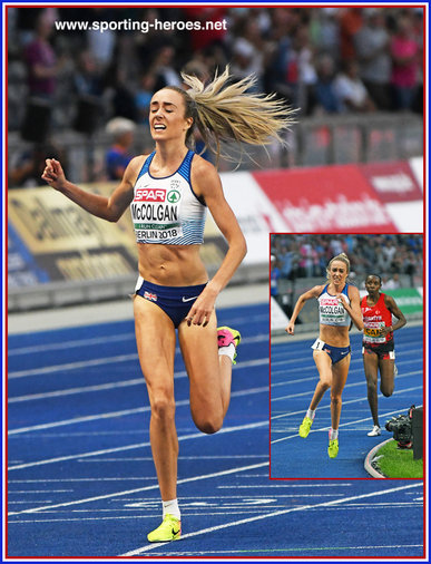 Eilish McCOLGAN - Great Britain & N.I. - 5000m silver mdeal at 2018 Europan Championships.