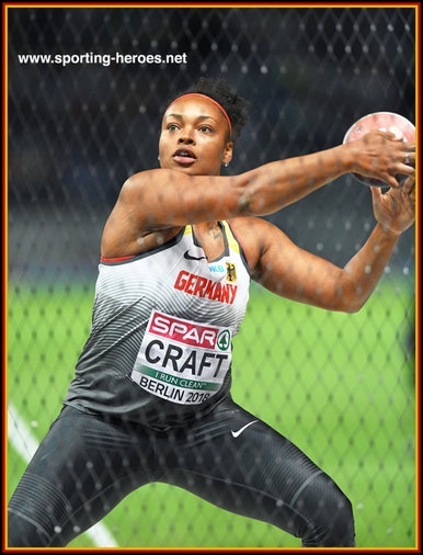 Shanice CRAFT - Germany - Third bronze medal at a European Championships