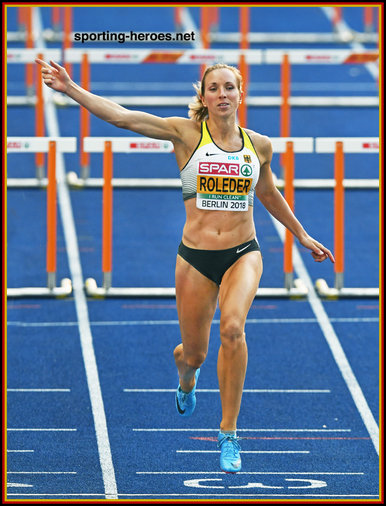 Cindy ROLEDER - Germany - Third in 100m hurdles at 2018 European Championships.