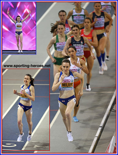 Laura MUIR - Great Britain & N.I. - 2019 European Indoor 1500m champion.