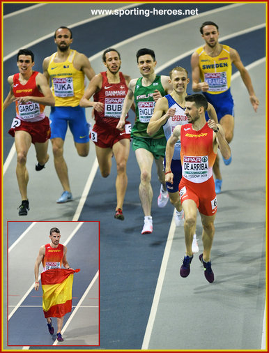 Alvaro de ARRIBA - Spain - 800m Champion at 2019 European Indoors.