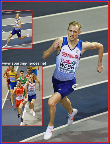 Jamie WEBB - Great Britain & N.I. - Silver medal men's 800m at 2019 European Championships.