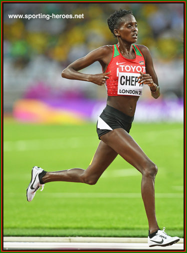 Irene Chepet  CHEPTAI - Kenya - 7th. in 10,000m at 2017 World Championships.