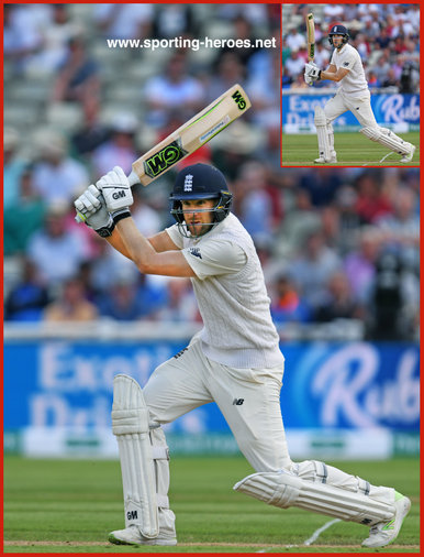 Dawid MALAN - England - 2018 Test match against India.
