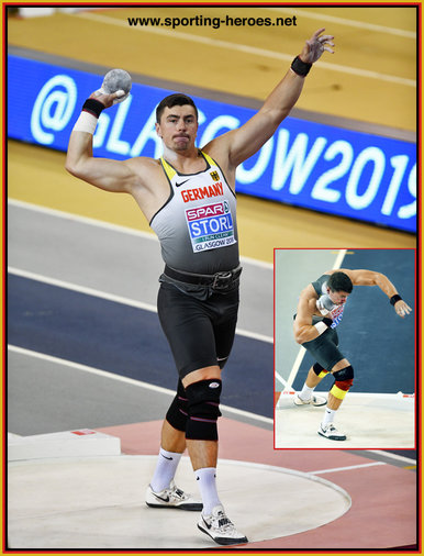 David STORL - Germany - 2019 European Indoor shot put silver medal.