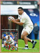 Mako VUNIPOLA - England - International Rugby Caps. 2017-