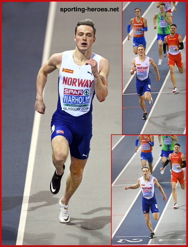 Karsten  WARHOLM - Norway - 2019 European Indoor 400m champion.