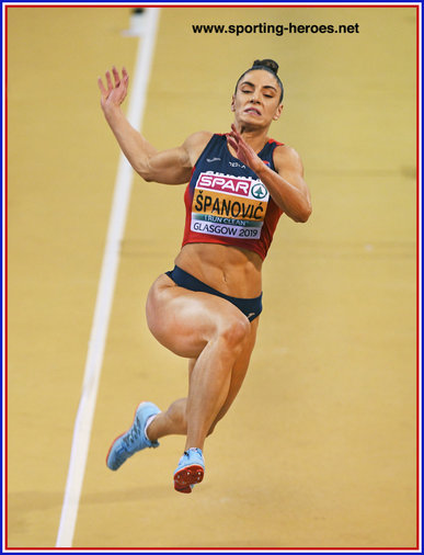 Ivana SPANOVIC - Serbia - 2019 European Indoor long jump Champion.