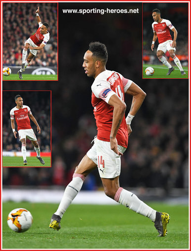Pierre-Emerick AUBAMEYANG - Arsenal FC - Europa League. 2019 K.O. games.