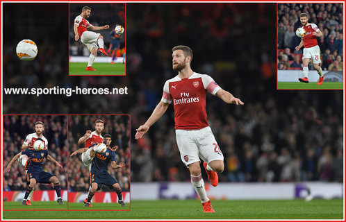 Shkodran MUSTAFI - Arsenal FC - Europa League. 2019 K.O. games.