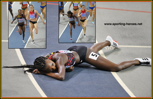 Cynthia BOLINGO - Belgium - 400m silver medal at 2019 European Indoor Champs.