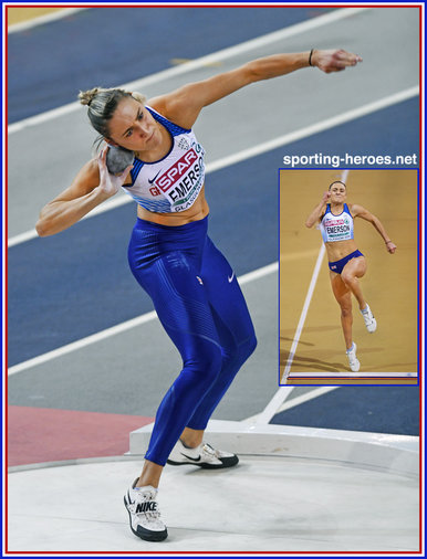 Niamh EMERSON - Great Britain & N.I. - Silver at 2019 European Indoor Championships.
