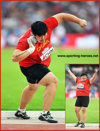 Lijiao Gong - China - Winner 2018 Athletics World Cup in London.