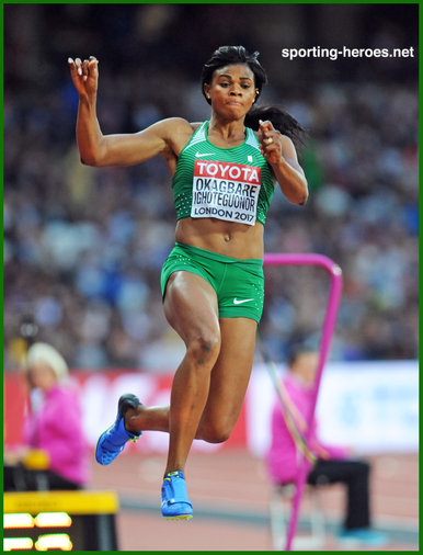 Blessing OKAGBARE - Nigeria - 8th in long jump at 2017 World Championships.