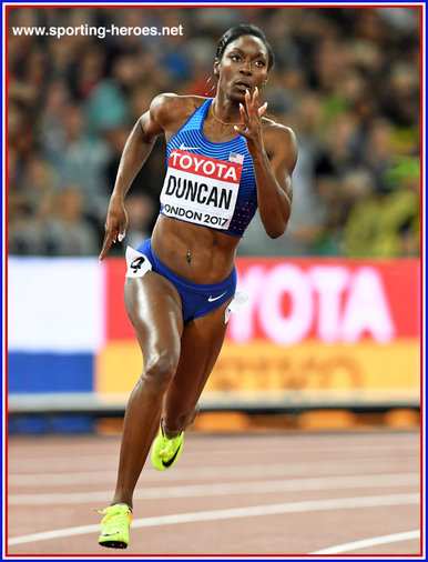 Kimberlyn DUNCAN - U.S.A. - Sixth in 200m at 2017 World Championships.