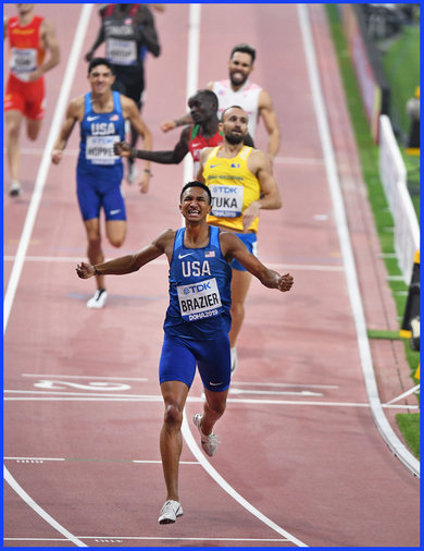 Donavan BRAZIER - U.S.A. - 2019 World 800m Championship victory in record time.