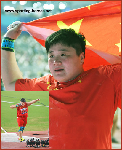 Lijiao Gong - China - Second World Championship shot put gold medal.