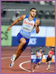 Adam GEMILI - Great Britain & N.I. - Silver medal in relay and 4th place in 200m final.
