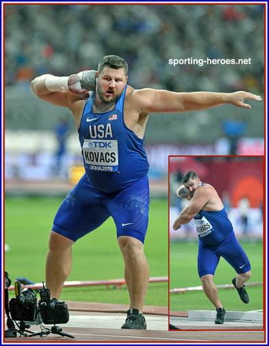 Joseph KOVACS - U.S.A. - 2015 shot put World Champion regains his title in 2019.
