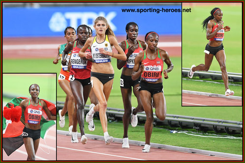 Hellen Onsando OBIRI - Kenya - Winner of World Championships 5,000 metres for a second time.