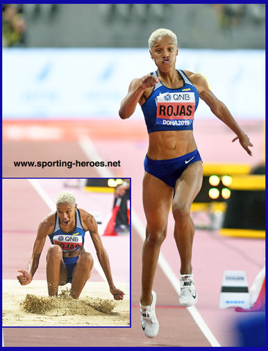 Yulimar ROJAS - Venezuela - 2nd. World Championship gold in triple jump.