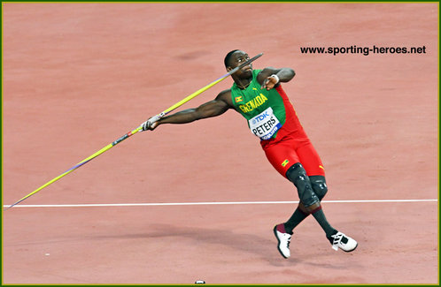 Anderson PETERS - Grenada - Javelin World Champion 2019 in Doha.