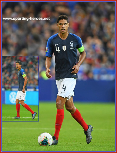 Raphael  VARANE - France - EURO 2020 qualifying games.
