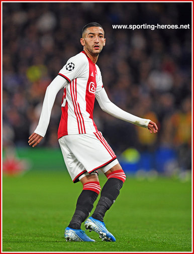 Hakim ZIYECH - Ajax - 2019/2020 Champions League Matches.