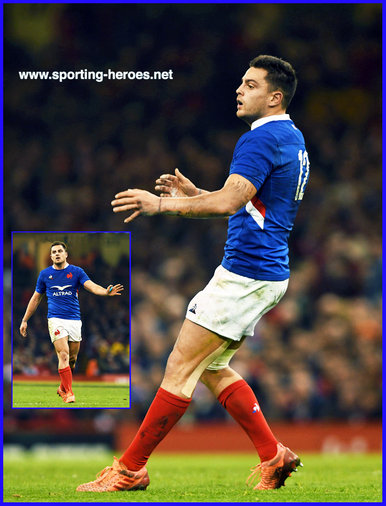 Arthur VINCENT - France - International Rugby Union Caps.