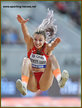 Maryna BEKH-ROMANCHUK - Ukraine - Long jump silver medal at 2019 World Championships.