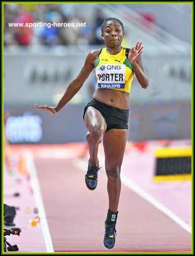 Chanice PORTER - Jamaica - 8th. at 2019 World Championships.