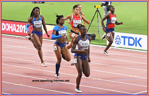 Brittany BROWN - Silver medal in 200m at World Championships.