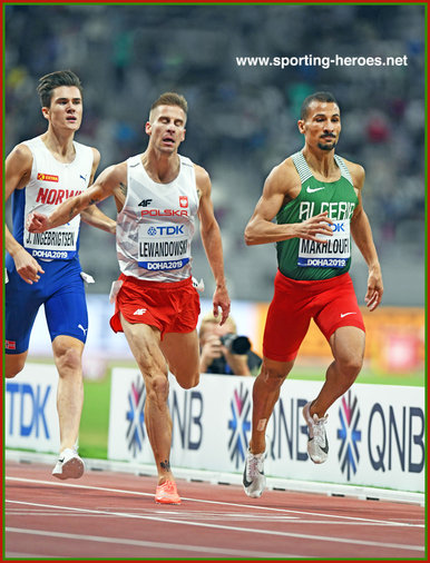 Taoufik MAKHLOUFI - Algerie - 1500m silver in 1500m at 2019 World Championships