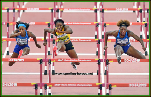 Danielle WILLIAMS - Jamaica - 100mh bronze medal at 2019 World Championsips
