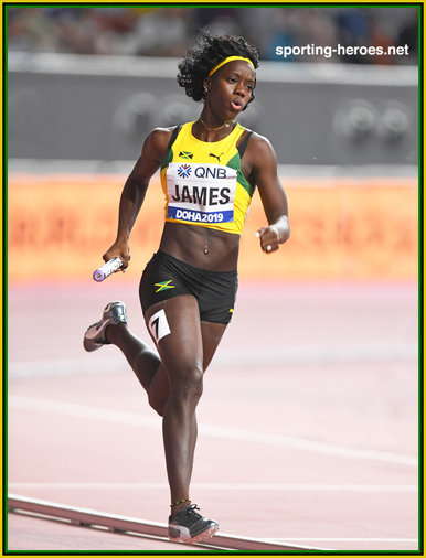 Tiffany JAMES - Jamaica - 4x400m bronze medal at 2019 World Championships.