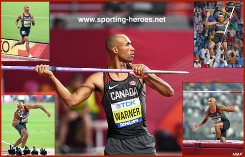 Damian WARNER - Canada - Decathlon bronze at 2019 World Championships.