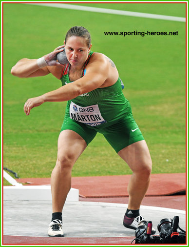 Anita MARTON - Hungary - 5th. in shot put at 2019 World Championships
