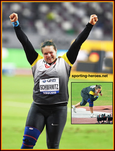 Christina SCHWANITZ - Germany - Discus bronze medal at 2019 World Champs.
